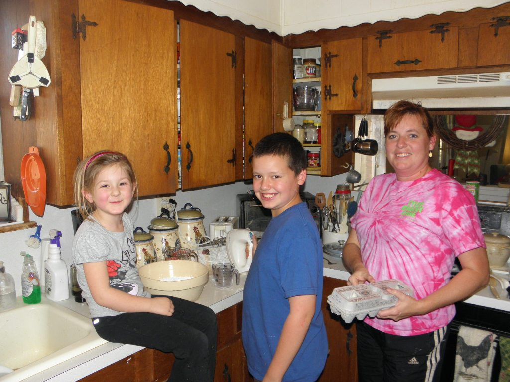 Jonathan with me and Rylie, making Royal Icing