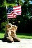 boots and flag