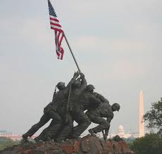 flag with marines