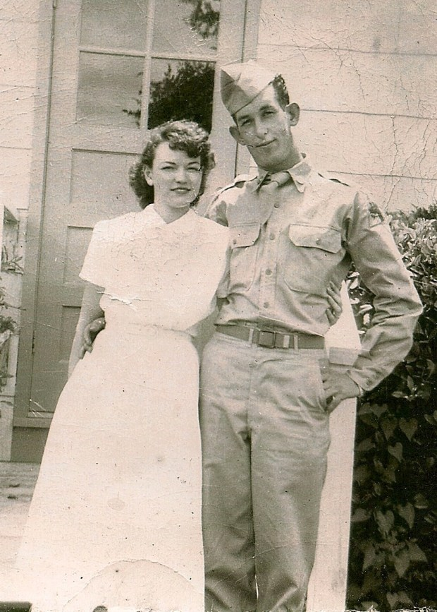 grandmother and granddad in uniform