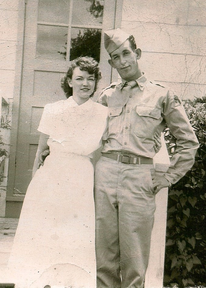 grandmother and granddad in uniform