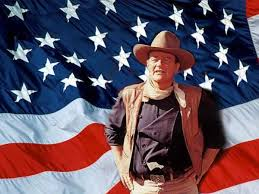 john wayne and flag