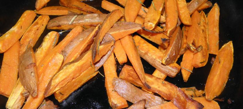 Oven Roasted Sweet Potato Fries with Rosemary