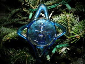 Hand blown glass ornament from Hot Springs, Arkansas