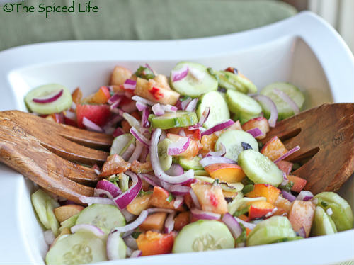 Cucumber & Peach Salad