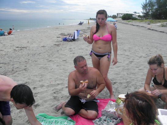 picnic at Bathtub Reef Park, Florida
