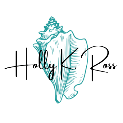 Logo for Holly K. Ross author writer and content creator web design, herb gardener and writer of romance books.