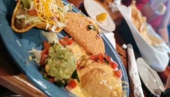 taco-chalupa-cheese-guacamole-on-the-island-plate-at-taquilos-in-galveston-texas